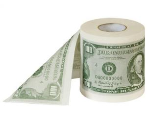 $100 Dollar Toilettenpapier