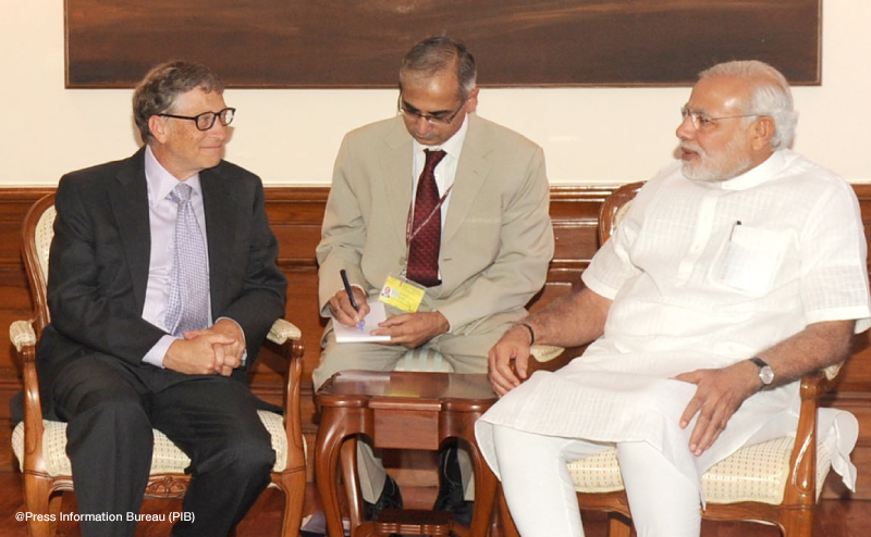 Bill Gates trifft Modi