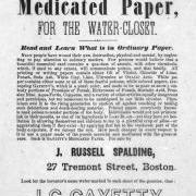 Joseph Gayetty Medicated Papers Werbung
