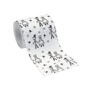 Hochzeit Schwarzweiß Toilettenpapier