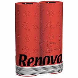 Rotes Toilettenpapier von Renova - Rot