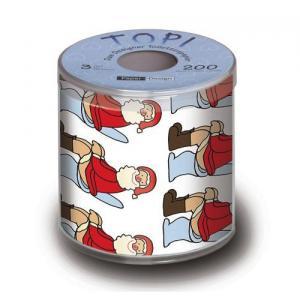Toilettenpapier Weihnachten: Santa auf Klo