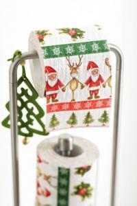 Toilettenpapier mit Weihnachtsmotiven