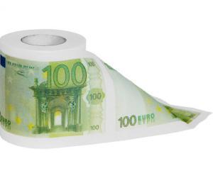 100 euro toilettenpapier euro klopapier bei. Black Bedroom Furniture Sets. Home Design Ideas