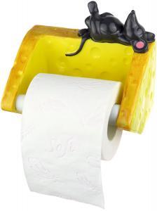 Maus mit Käse Toilettenpapier Halter