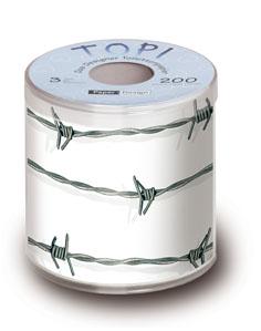 Toilettenpapier Barbwire mit Stacheldraht